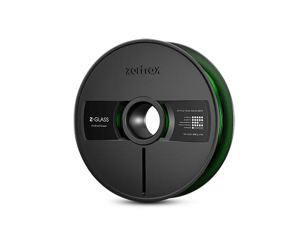 Zortrax Filament M200 GLASS Android Green